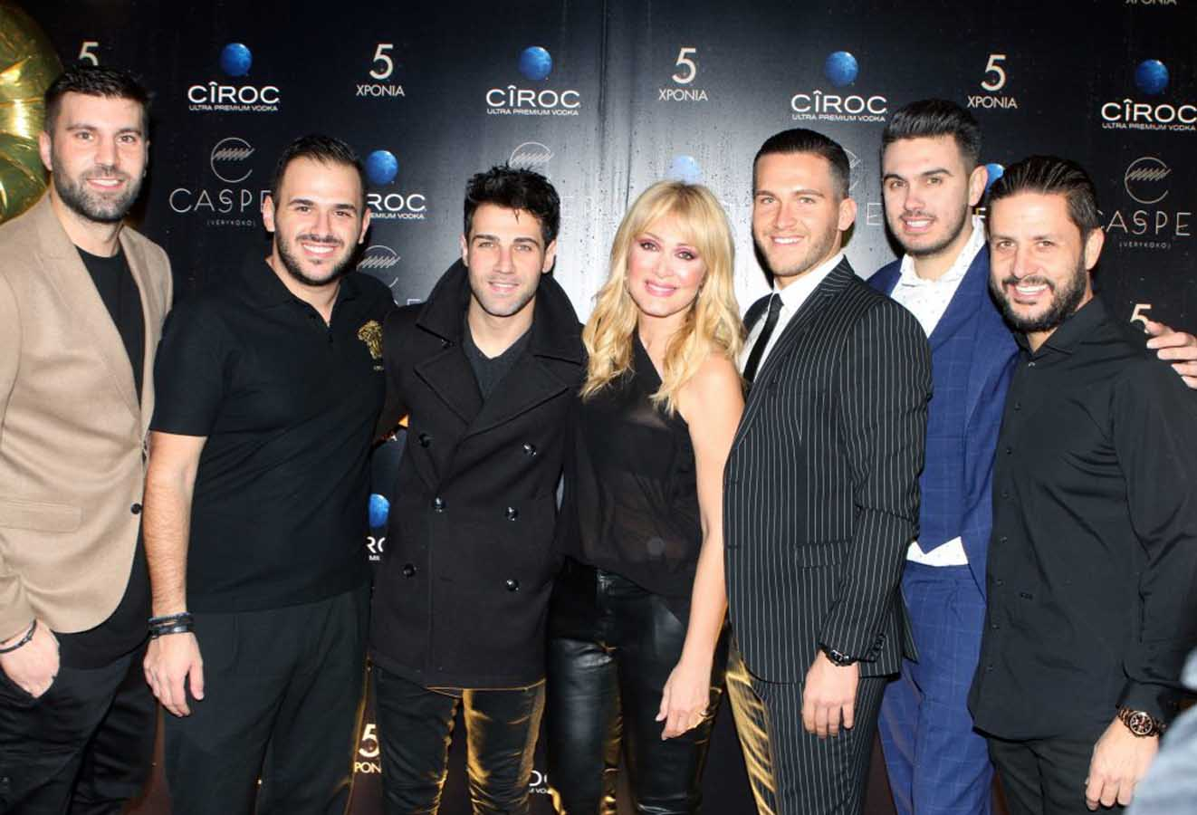 """Glamorous birthday party for the 5th anniversary of Thessaloniki's most famous club """"Casper at Verykoko""""!"""